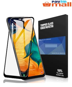 Samsung Galaxy A50/A30 6D Tempered Glass (Saphire Black) Edge to Edge Full Screen Coverage with Easy Installation kit
