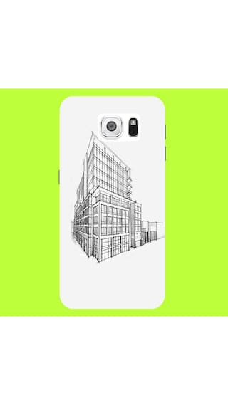 Samsung galaxy s6 building pencil sketch architecture mobile case back cover