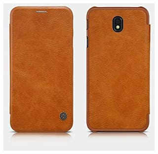 innovative design 7eee7 905c0 Samsung Galaxy J7 Pro Original Nillkin QIN Leather Flip Cover sleep  function - Brown