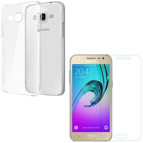 Samsung galaxy J2 2016 tempered glass with transparent back over