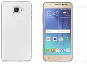Samsung galaxy J5 prime Transparent back cover  with temepred glass 0.33mm 2.5D Curved temepred glass