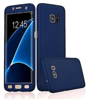 .Samsung Galaxy J7 prime 360 Degree Full Body Protection Front & Back Case Cover (iPaky Style) With Tempered Glass For Samsung Galaxy J7 Prime Blue