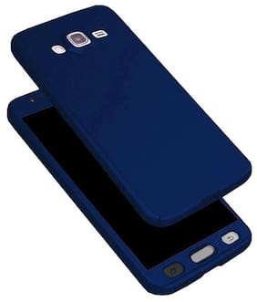 .Samsung Galaxy J2 360 Degree Full Body Protection Front & Back Case Cover (iPaky Style) With Tempered Glass For Samsung Galaxy J2 Blue