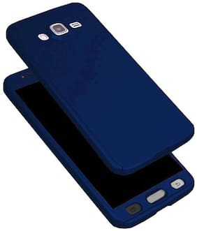 .Samsung Galaxy Samsung Galaxy On 5 360 Degree Full Body Protection Front & Back Case Cover (iPaky Style) With Tempered Glass For Samsung Galaxy On 5 Blue