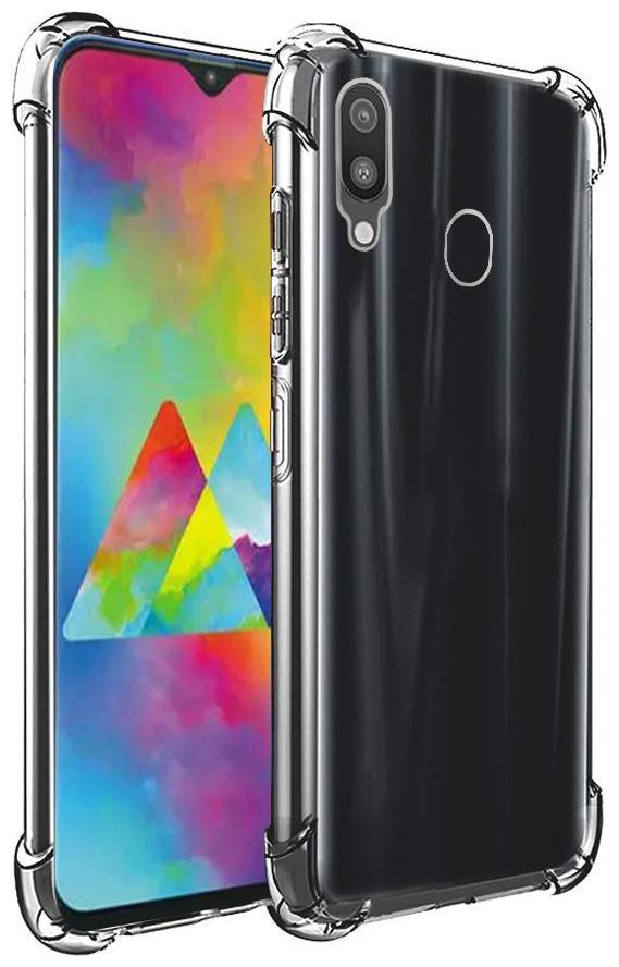 Samsung Galaxy M20s Soft Flexible Shockproof Bumper Transparent Back Case Cover