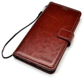 Siddharth Leather Flip Cover For Samsung Galaxy J7 ( Brown )