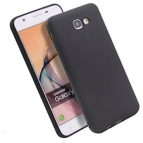 Samsung J7 Prime Soft Silicone High Quality Dust Proof Anti Slip Back Case Cover Black