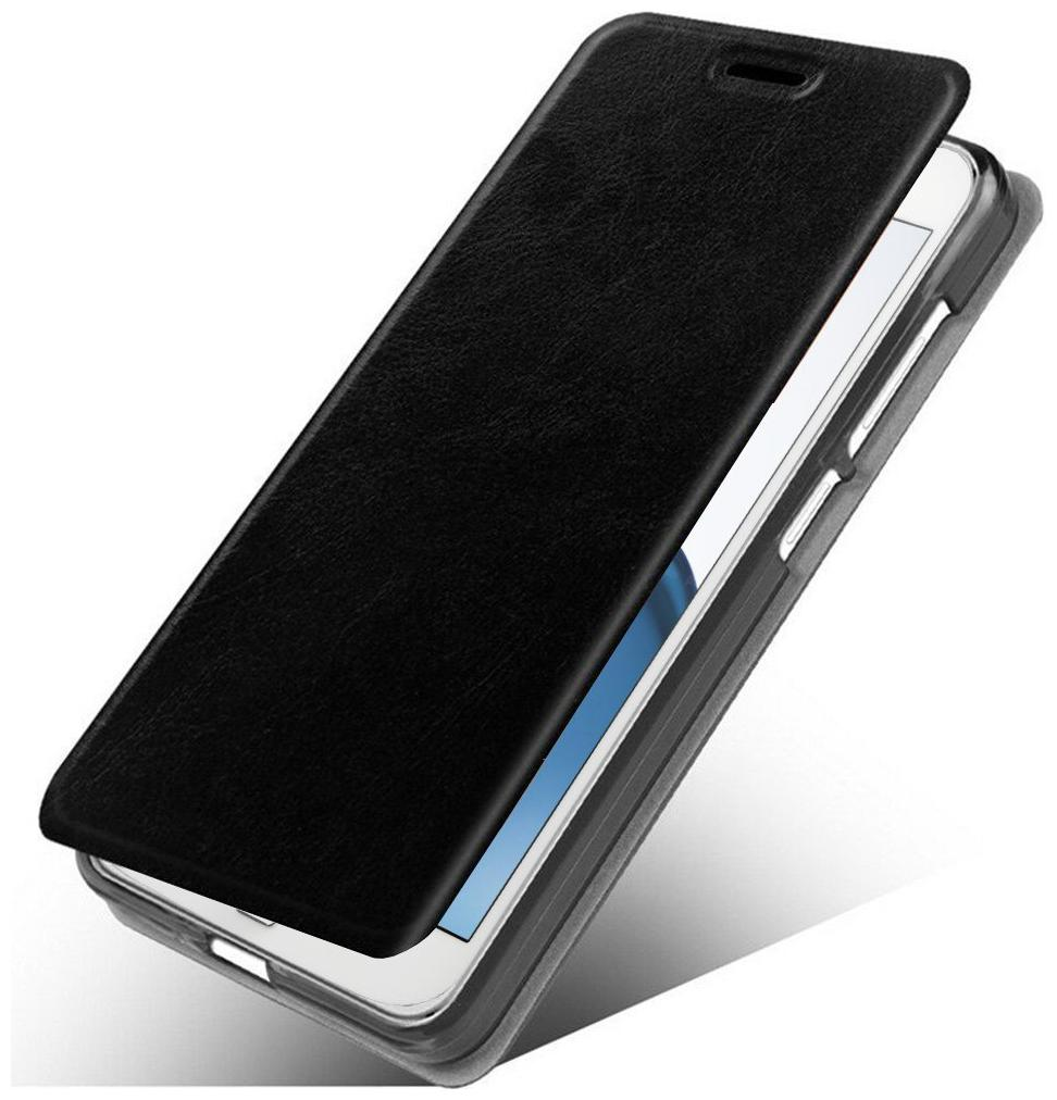 Samsung Galaxy On7 Leather Flip Cover By Accessories Kart   Black   by Sri Sai Accessories World