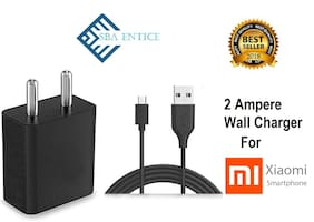 SBA Entice Fast Mobile  Charger 2.1 AMP Adapter With data cable  For Xiaomi Redmi mi