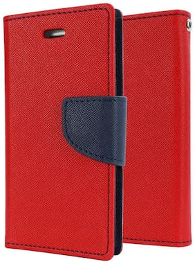 SCHOFIC Premium Fancy Wallet Diary Faux Leather Mobile Flip Case Cover [Pouch] with Card Slots & Stand View for Reliance Jio LYF Flame 3