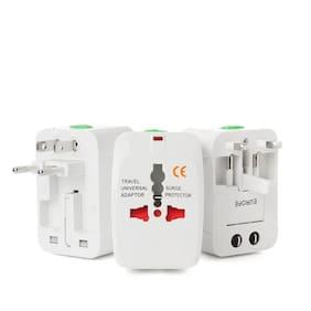 Scoria White Travel Adapter