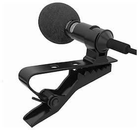 SCORIA Clip On Mini Lavalier Lapel Mic Collar Microphone For PC Computer Laptop Gaming Sound Recording