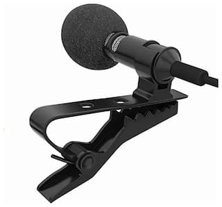 SCORIA Professional Lavalier Lapel Microphone Omni directional Condenser Mic for Recording with 1.5m Cable