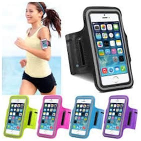 SCORIA Running, Jogging, Gym, Yoga, Aerobics, Cycling Anti-slip Ultra Light Weight Armband Mobile Holder for Screen size upto 4.7 inches like iphone 4, 5, 6 and 6s