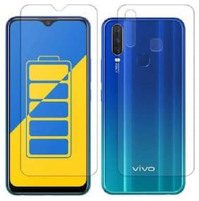 Screen Protector Vivo Y17, Y15 Y12 Front and Back Hammer Proof Unbreakable Impossible Film Impossible ScreenGuard Screen Guard Not a Tempered Glass Crystal Clear - Transparent