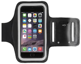 SEC Gym Sports Armband-Wrist Band-Mono Trendy And Functional Sports Armband For Large Screen Size (4.5 to 5.5 Inch) Smart Phone For GIONEE S6,S PLUS,S6S,S7,F103,F103 PRO,P7 (Black)