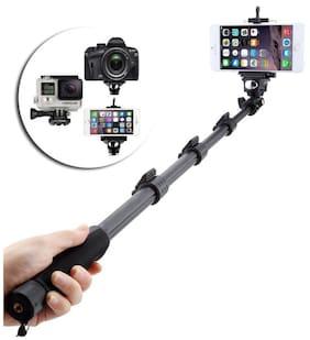 Selfie Stick for Smartphones, Action and Digital Camera (Black) BY Crystal Digital
