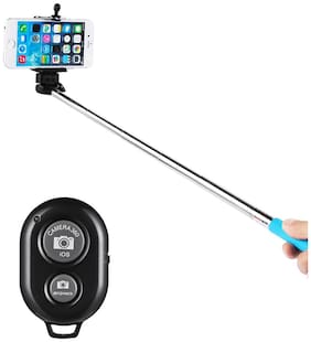Selfie Stick With Bluetooth Remote For All Smartphone (Black)