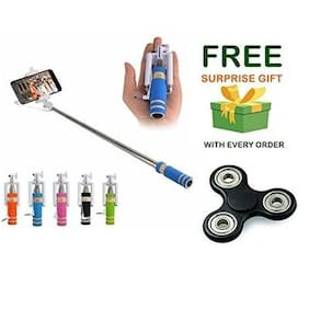 Premsons Selfie Stick Mini With Aux Cable For iPhone, Android, Windows Phone and ( Get a free surprised assured gift upto worth Rs 249/- with every purchase )- Multi Colours