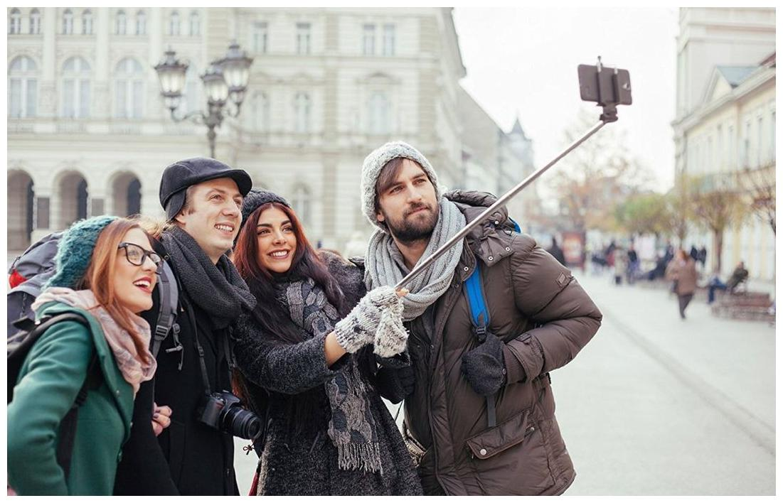 Selfie Stick with Wire/Aux Cable for taking Photos & Videos on all...
