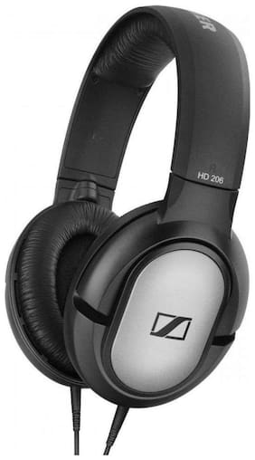 Sennheiser HD 206 507364 Over-Ear Wired Headphone ( Black )