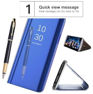 huge discount b92f4 14104 SESS XUSIVE Flip Cover For Vivo Y83 (Blue)