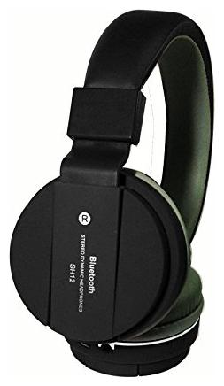 SH12 Wireless/Bluetooth Headphone with FM & SD Card Slot Compatible with Samsung/Vivo/Oppo/Oneplus/Motorola...