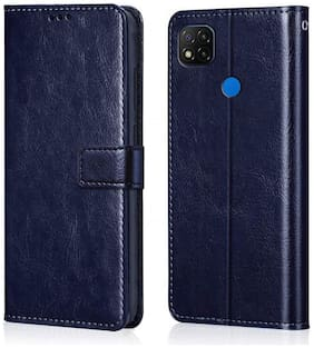 Shining Stars Faux Leather Flip Cover For Xiaomi Redmi 9C ( Blue )