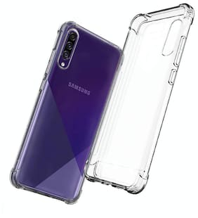 Samsung Galaxy A30s Rubber & Silicone Back Cover By SHINING ZON ( Transparent )