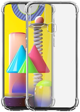 SHINING ZON Silicone Back Cover For Samsung Galaxy F41 ( Transparent )
