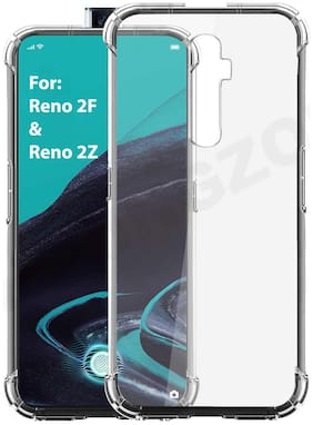 Shining Zon Shockproof Soft Silicon Back Cover Case for Oppo Reno 2F / Reno 2Z-Transparent