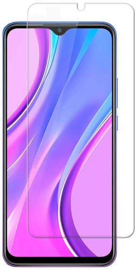 Shining Zon Full Screen Coverage Except Edges Tempered Glass Screen Protector for Redmi 9 Prime / Poco M2 / Poco C3 - Transparent