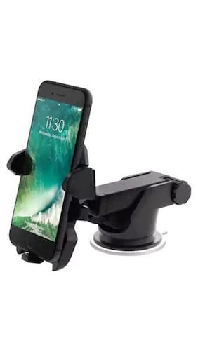 One Touch Car Mobile Phone Holder - Long Neck Silicone Sucke