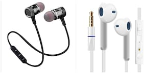 Shopline Iphone Earphone and Magnet Bluetooth Headset Combo