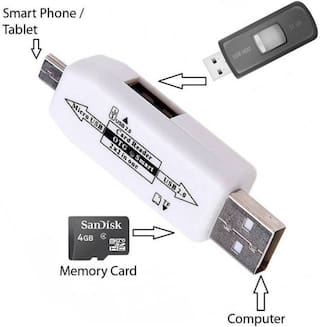 Shopline OTG Smart Connector/ Micro USB OTG Cable / OTG / Attach To Pendrive, Card Reader Compatiable with all Android, Windows and iOS Smartphones