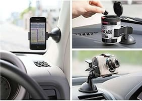 SHOPLINE Universal Car Mount holder/Windshield/Dashboard/Working Desk holder With 360 Degree Rotating Base With Flexible Arm To Position Mobile For All Smartphones
