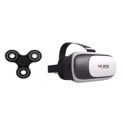 Shutterbugs Combo of Fidget spinner with VR Box ( Assorted colour ) Paytm Mall Rs. 149.00