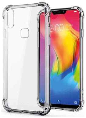 EXOTIC FLOURISH Silicone Back Cover For Vivo Y93 ( Transparent )