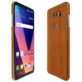Skinomi Light Wood Skin+Clear Screen Protector For LG V35 ThinQ