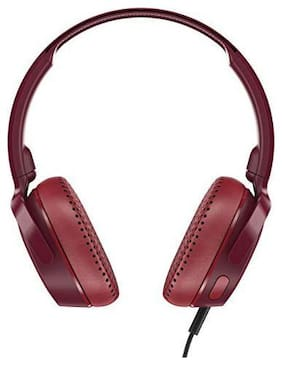 Skullcandy Riff S5PXY-M685 On-Ear Wired Headphone ( Red & Black )