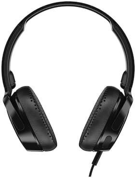 Skullcandy Riff S5PXY-L003 On-Ear Headphone with Mic (Black)