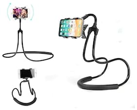 Skytop Universal Lazy Hanging Neck Phone Stand Mount Necklace Support Bracket Holder HQ(Assorted)