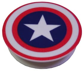 Smars Captain America Sheild Pattern Pop Mobile Holder with Stand