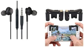 Smart Choice In-Ear Wired Headphone For All Smatphones (Black) (Free PUBG Triiger)