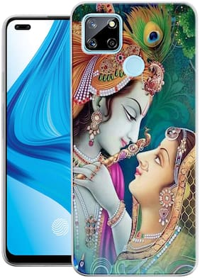 Realme Narzo 20 Silicone Back Cover By SMART FLY ( Multi )