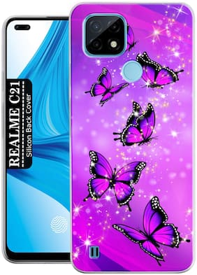 Realme C21 Silicone Back Cover By SMART FLY ( Multi )