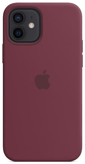 Smartphonewear Silicone Back Cover For Apple iPhone 12 Mini ( Maroon )