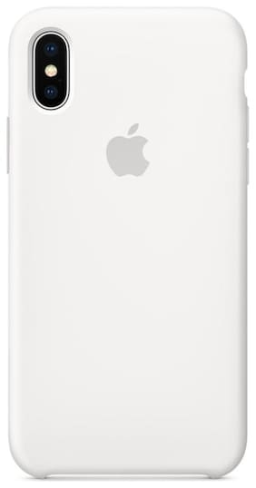 Smartphonewear Silicone Back Cover For Apple iPhone X & Apple iPhone XS ( White )