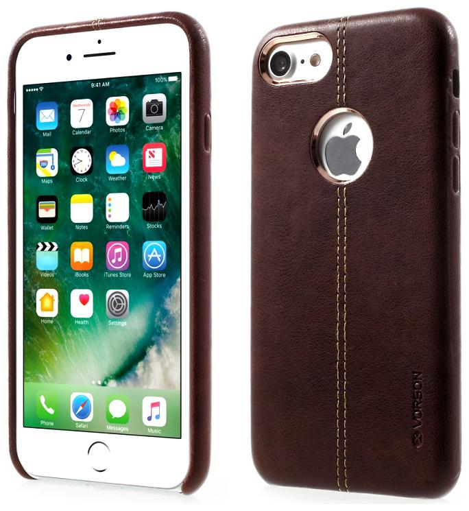 Smartphonewear Faux Leather Back Cover For Apple iPhone 8   Apple iPhone 7   Brown   by ARK Enterprises