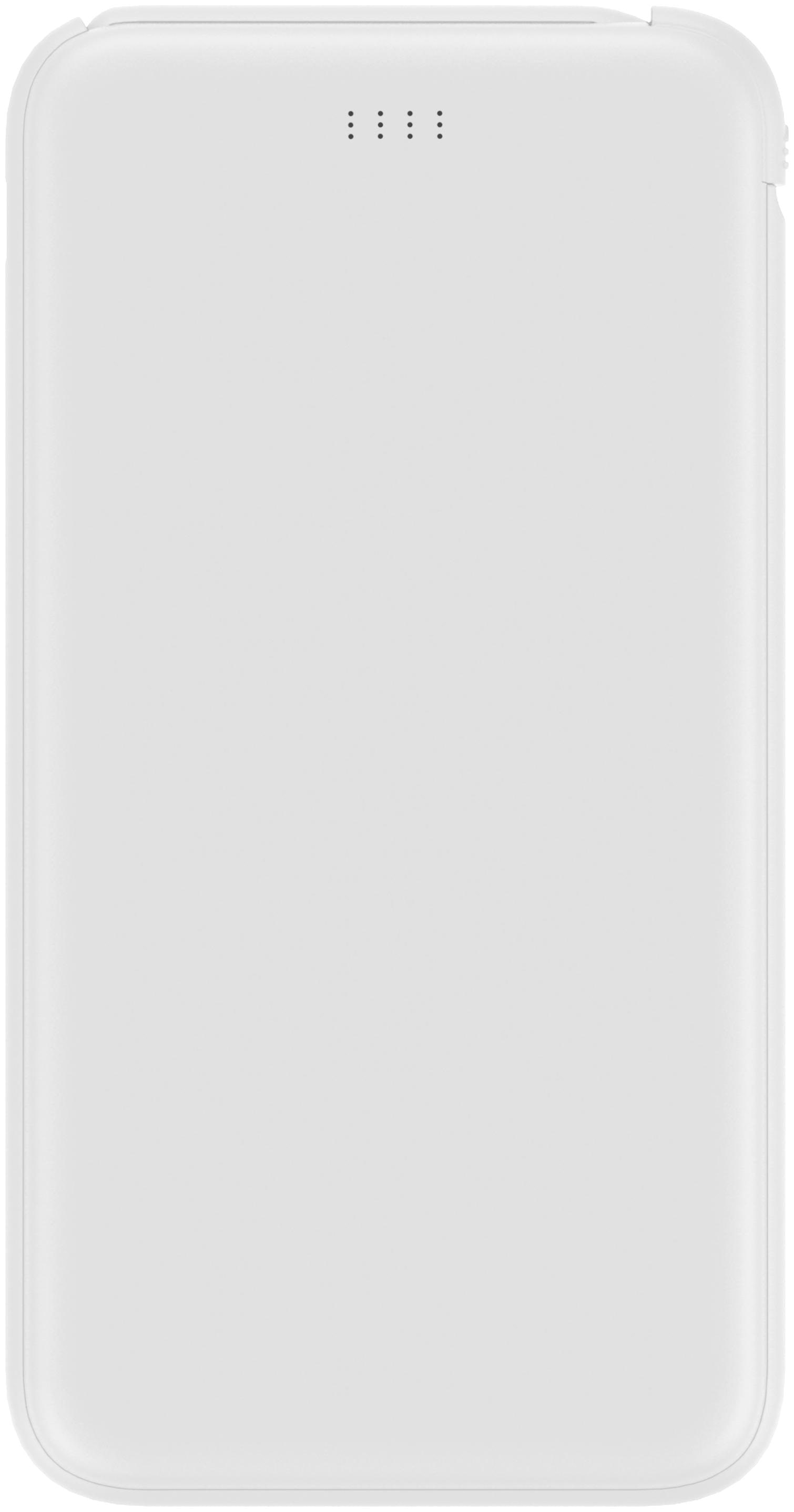 Smartplay Power bank 10000 mAh   1012 White Colour Lithium Polymer battery with Inbuilt Cable